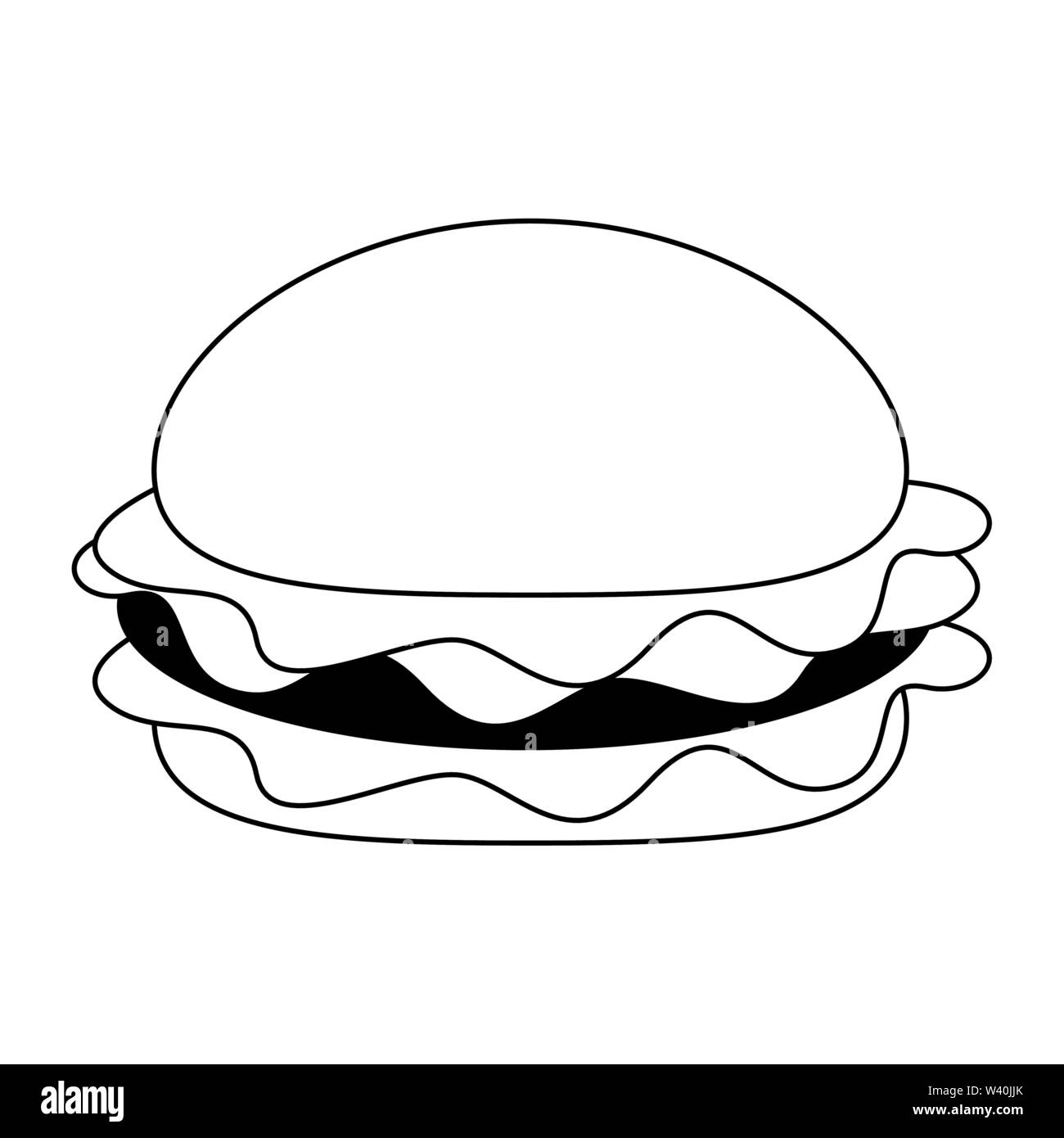 Fast food Hamburger essen Symbol Stockbild