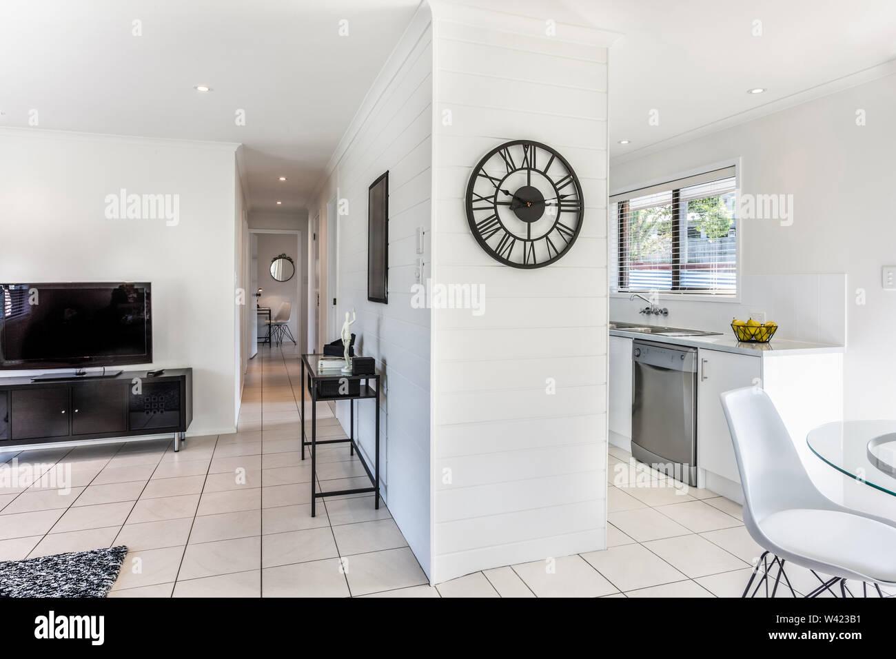 Kombinierte Ansicht der stilvollen Wohnzimmer mit einem ...