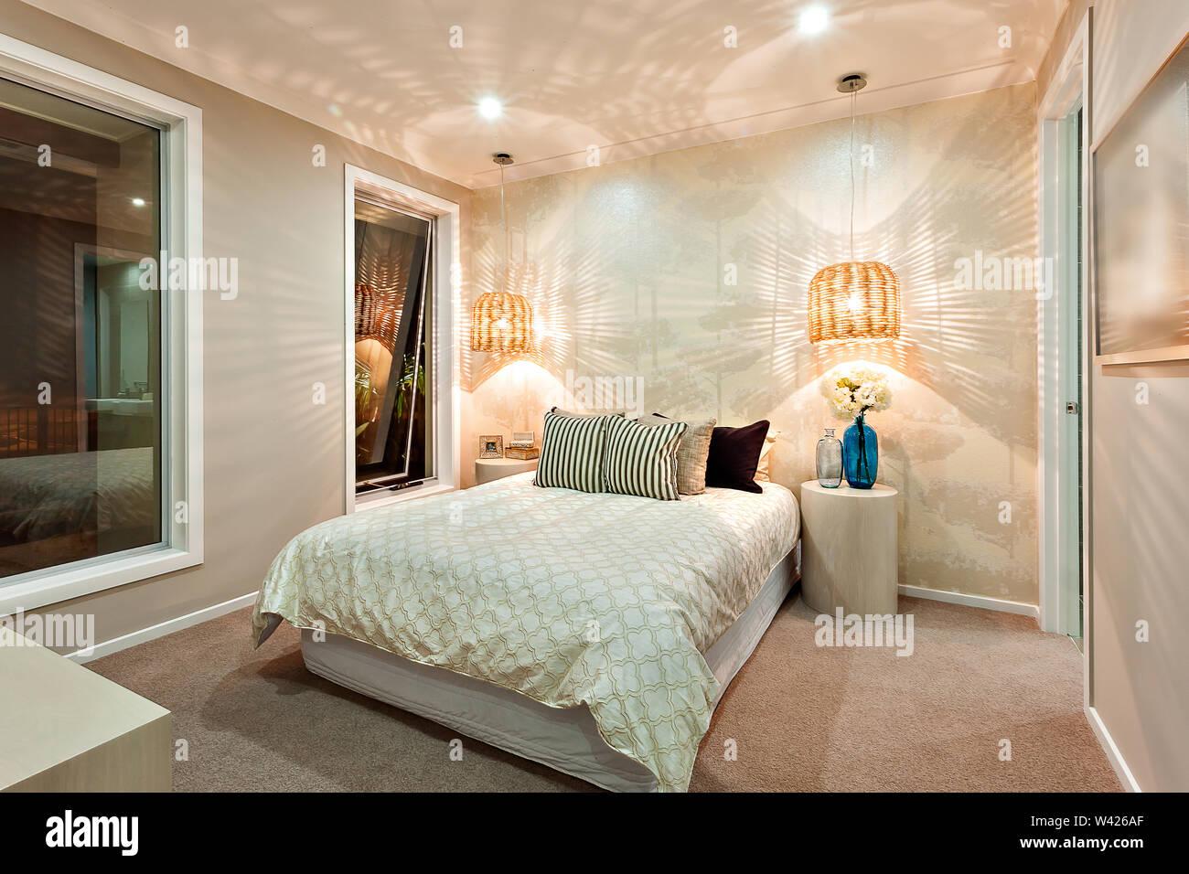 Modernes Schlafzimmer Wänden schön mit dem Muster der ein ...