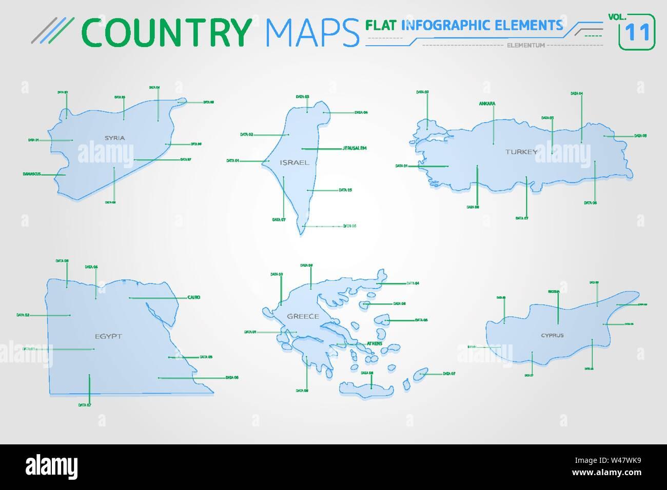 Map Cyprus Syria Turkey Stockfotos & Map Cyprus Syria Turkey ...