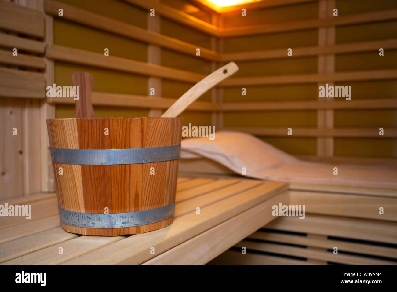Sauna Holz- bad Dampfbad heißen gesundes Leben, leere ...
