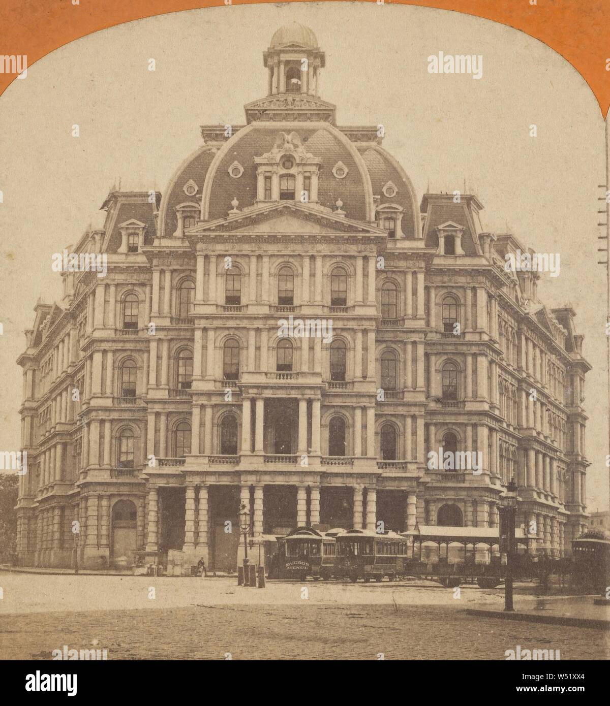 Post, N.Y., Unbekannten, amerikanischen, ca. 1870 - 1880, Eiweiß silber Drucken Stockfoto