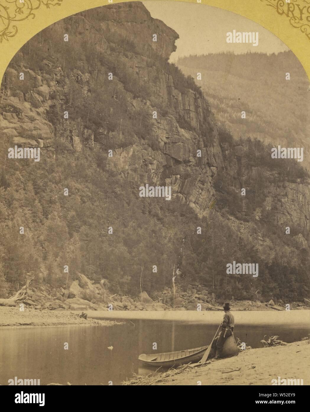 Indian Head, untere Ausable Teich, Adirondacks., S.R. Stoddard (American, 1843 oder 1844 - 1917), um 1875, Eiweiß silber Drucken Stockfoto