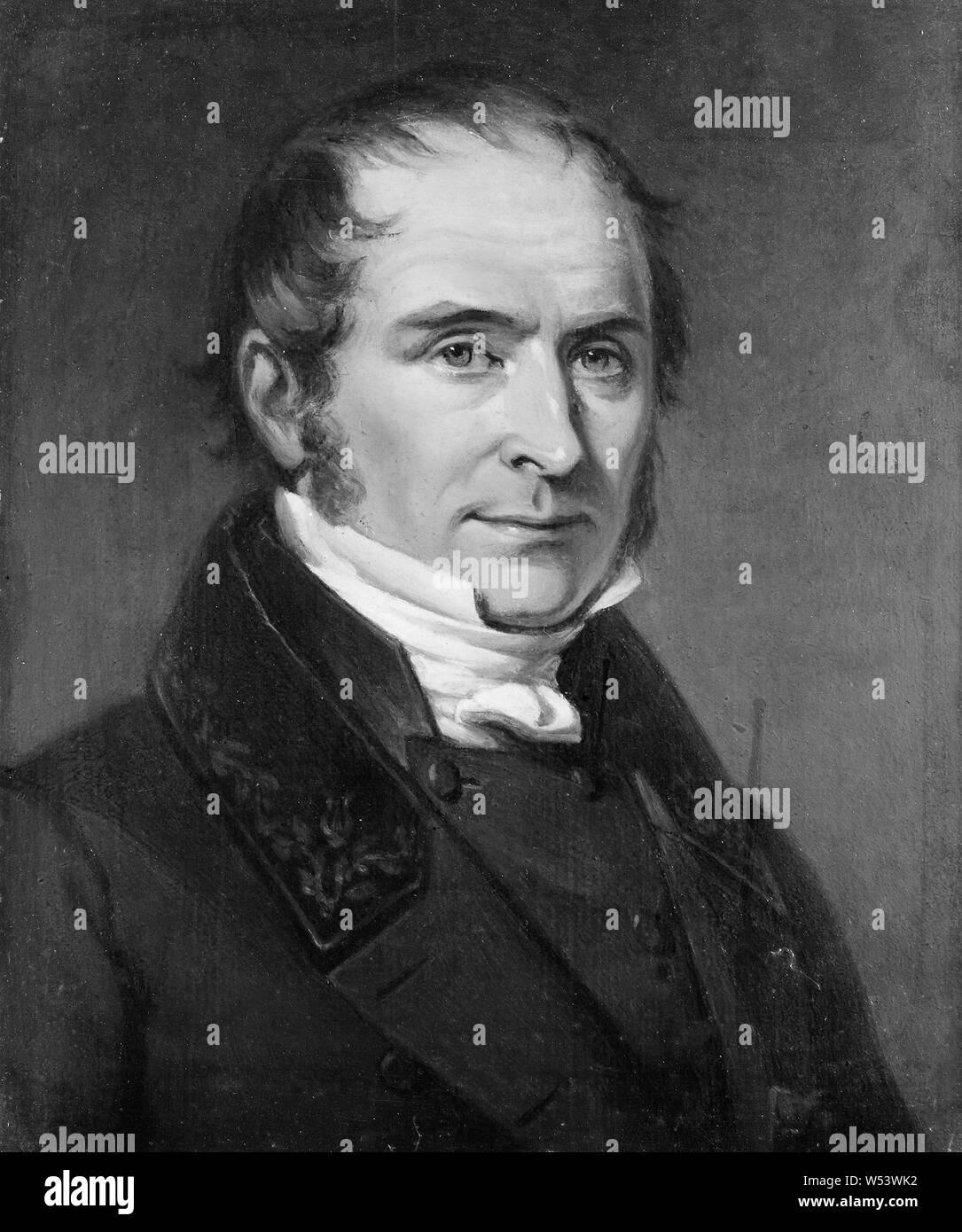 Johan Gustaf Sandberg, Elias Magnus Fries, 1794-1878, Malerei, 1838, Öl, Höhe, 23 cm (9 Zoll), Breite 19 cm (7,4 Zoll) Stockfoto