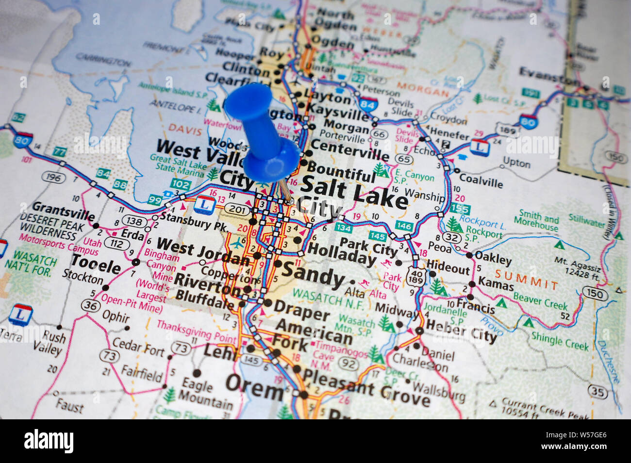 Salt Lake City Map Stockfotos & Salt Lake City Map Bilder ...