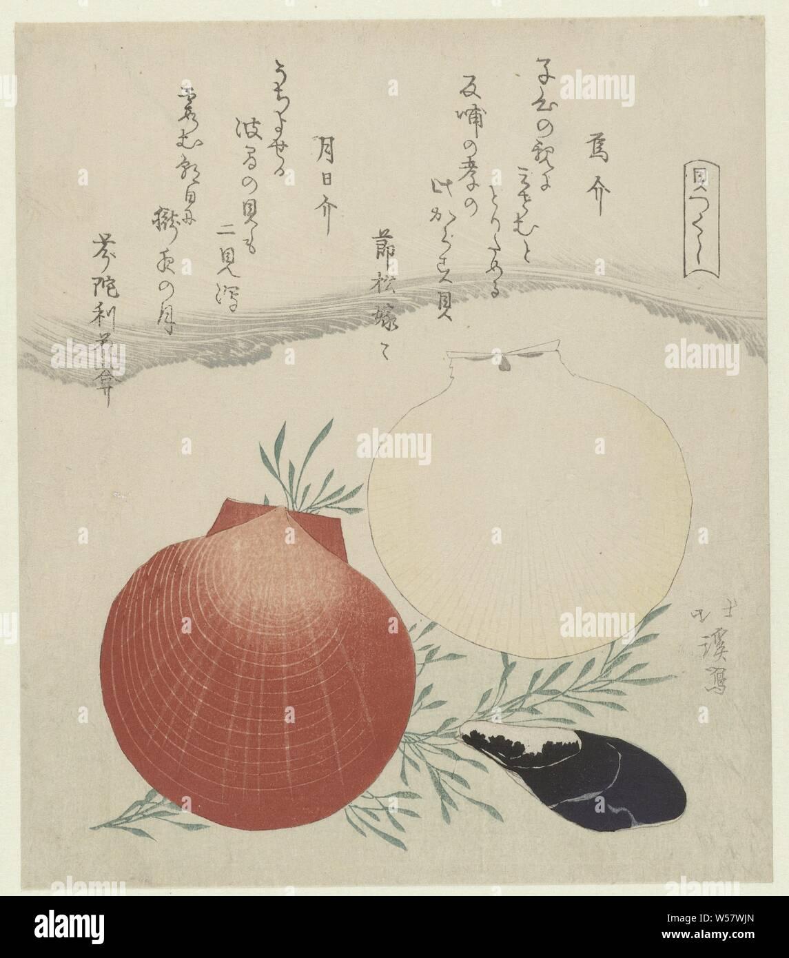 Süßwasser Muschel Und Japanische Sonne Und Mond Kaminsims