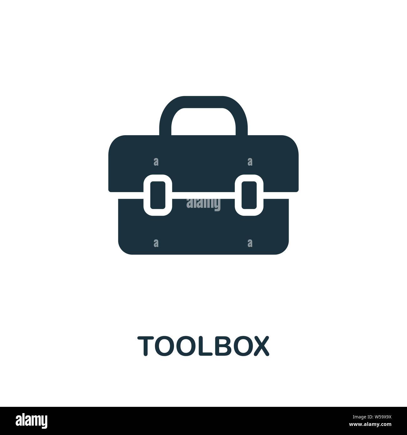 Symbol Toolbox. Kreative Zeichen aus Bauwerkzeuge Icons Sammlung ...
