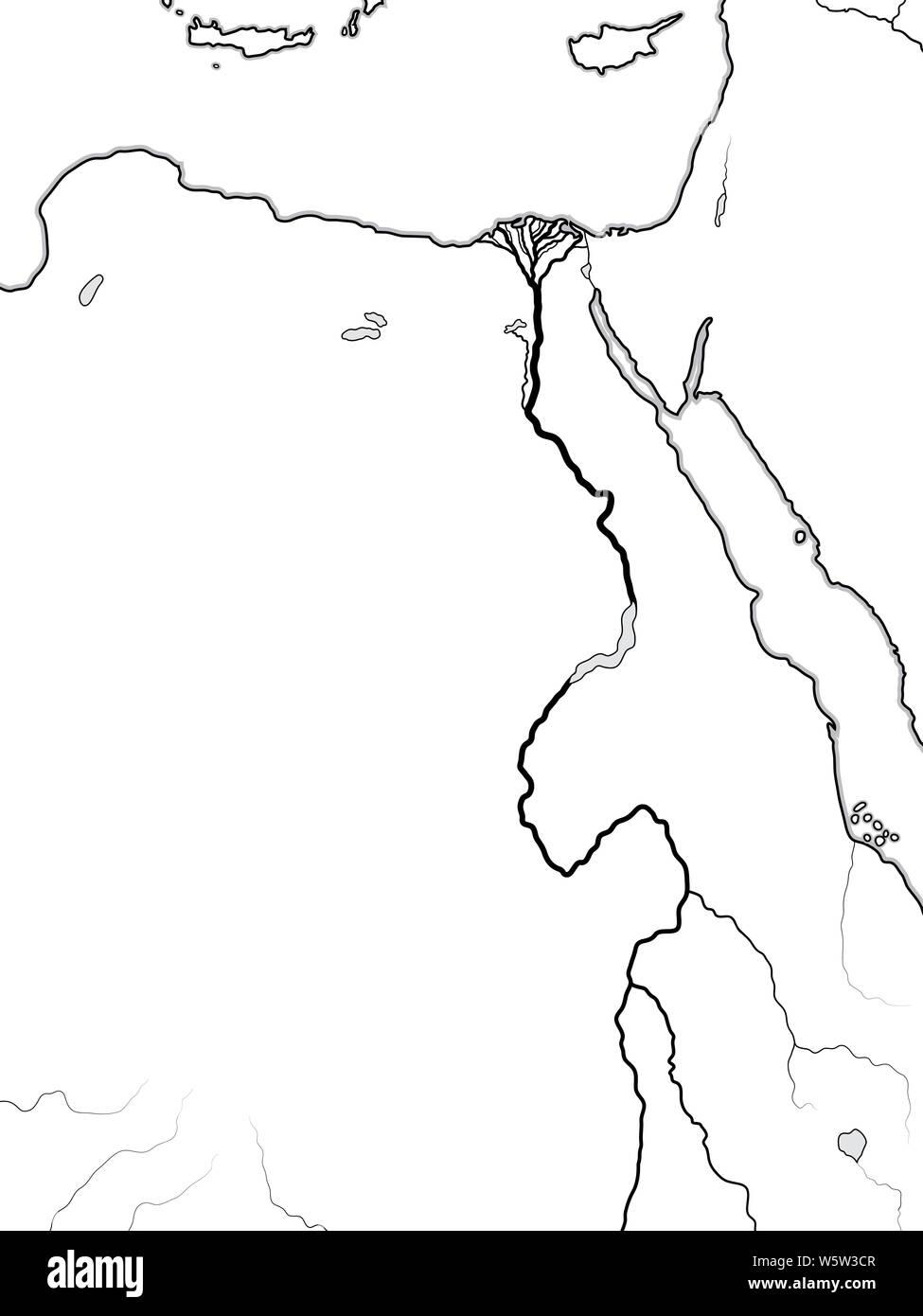 Karte ägypten Nil.Welt Karte Von ägypten Nubien Libyen Afrika ägypten Libyen
