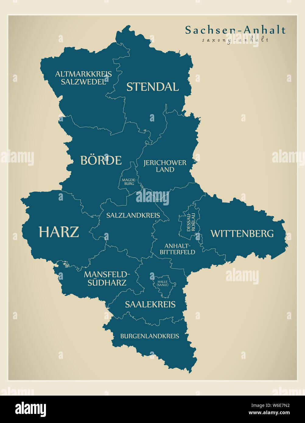 Moderne Karte Sachsen Anhalt Deutschlandkarte Mit Landkreisen