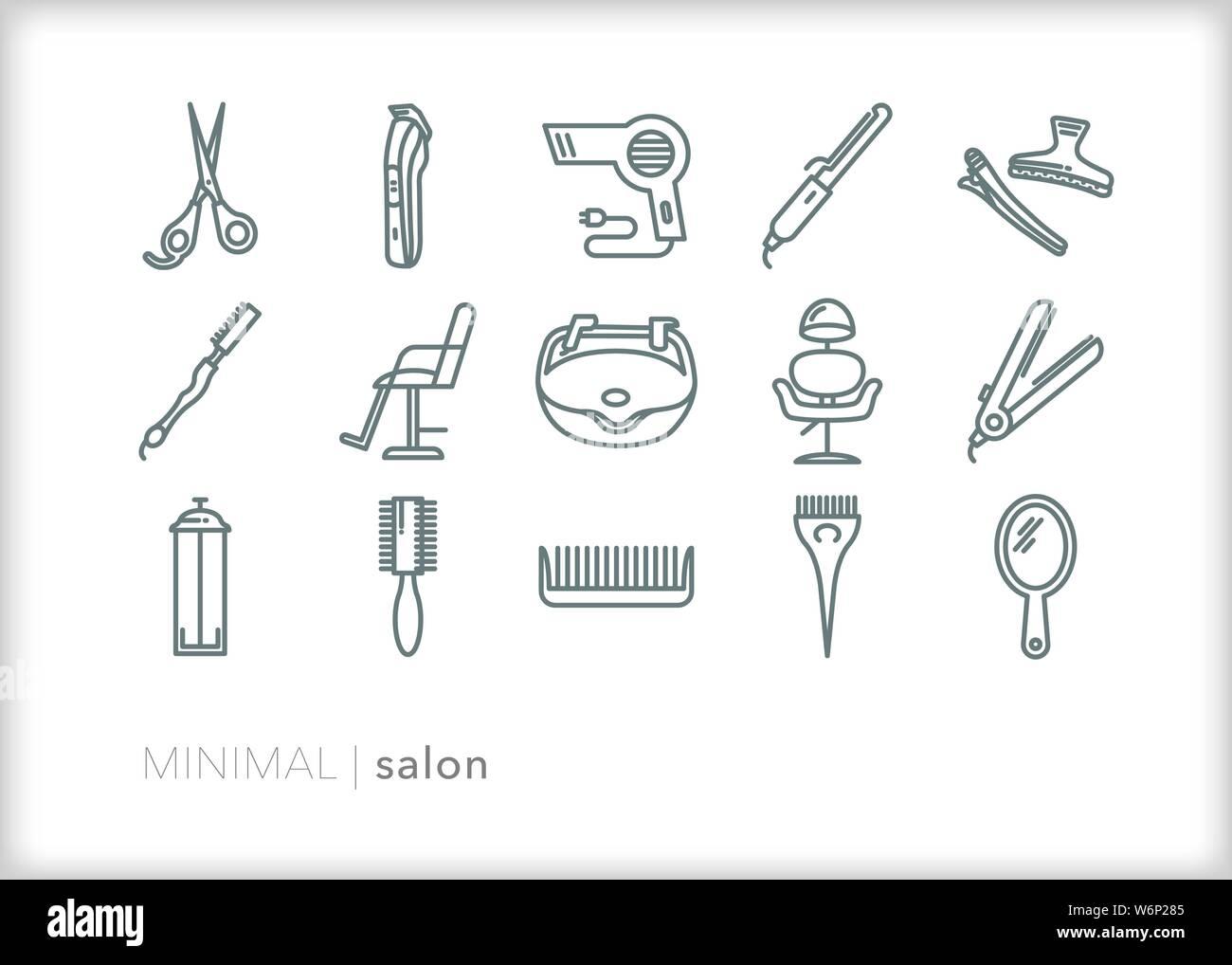Hair Cutting Scissors Icon Flat Stockfotos & Hair Cutting ... on
