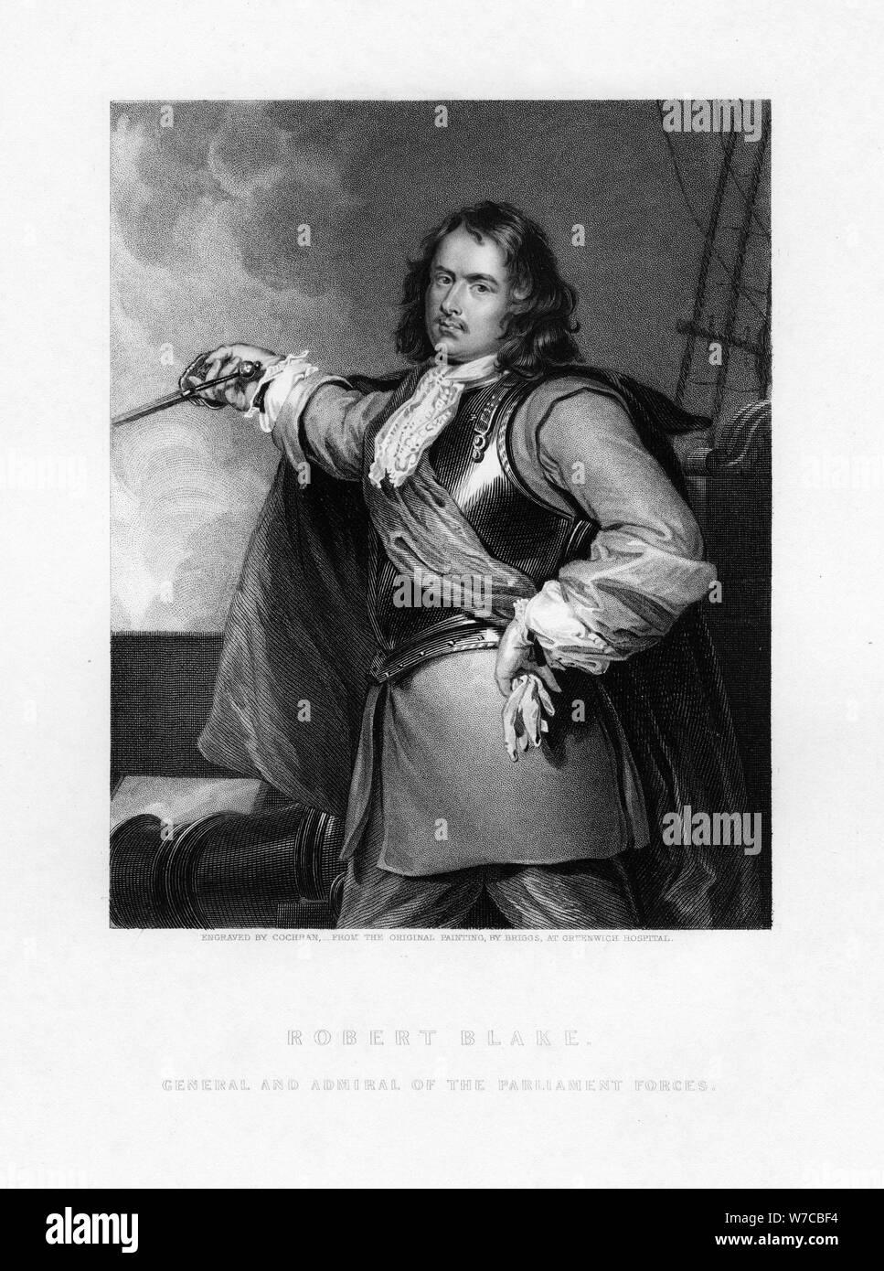 Robert Blake, englischer Admiral, (1836). Artist: Cochran Stockfoto