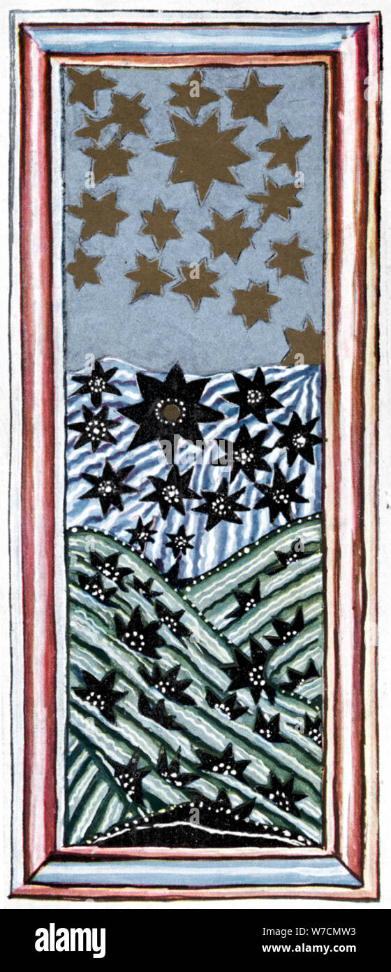 Hildegard von Bingen (1098-1179), deutsche Äbtissin und Mystiker. Artist: Unbekannt Stockfoto