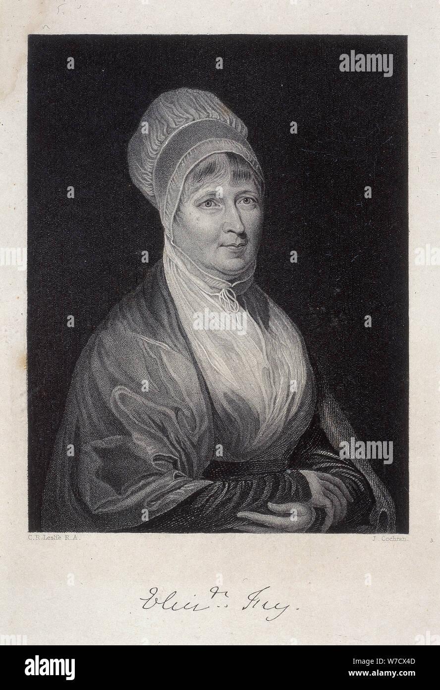 Elizabeth Fry, 1844. Artist: J Cochran Stockfoto