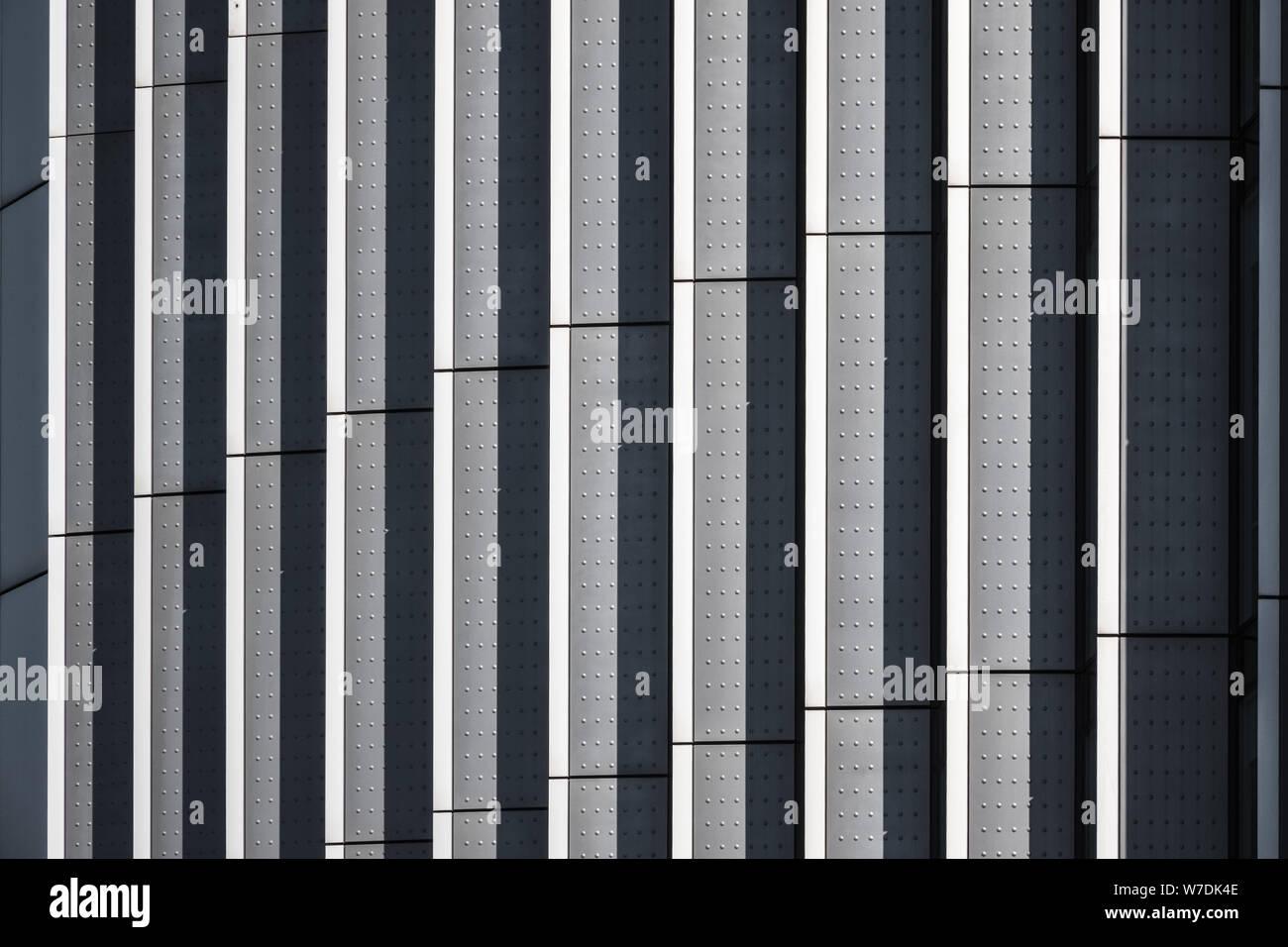 Metallische Architektur abstrakte Muster und Strukturen Stockfoto