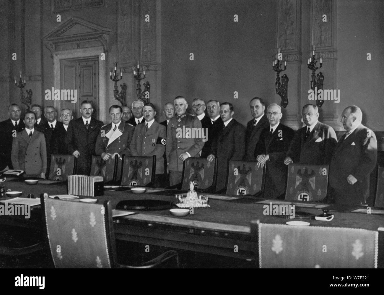 Hitler Adolf Adolf seinem und und Kabinett1936ArtistUnbekannt Hitler uFK1T3cJl