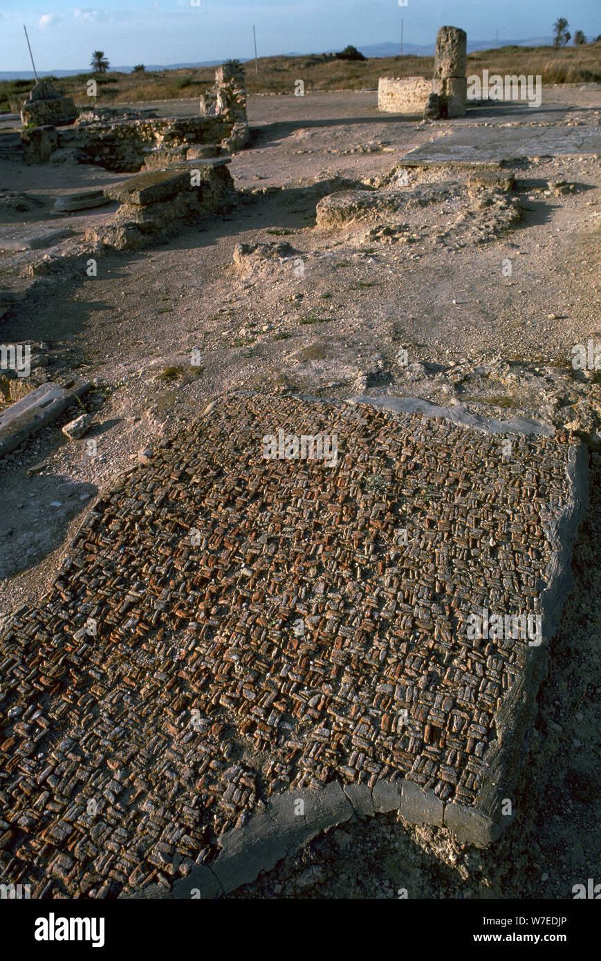 Punischen Bodenmosaik, c. 6. Jahrhundert v. Chr.. Artist: Unbekannt Stockfoto