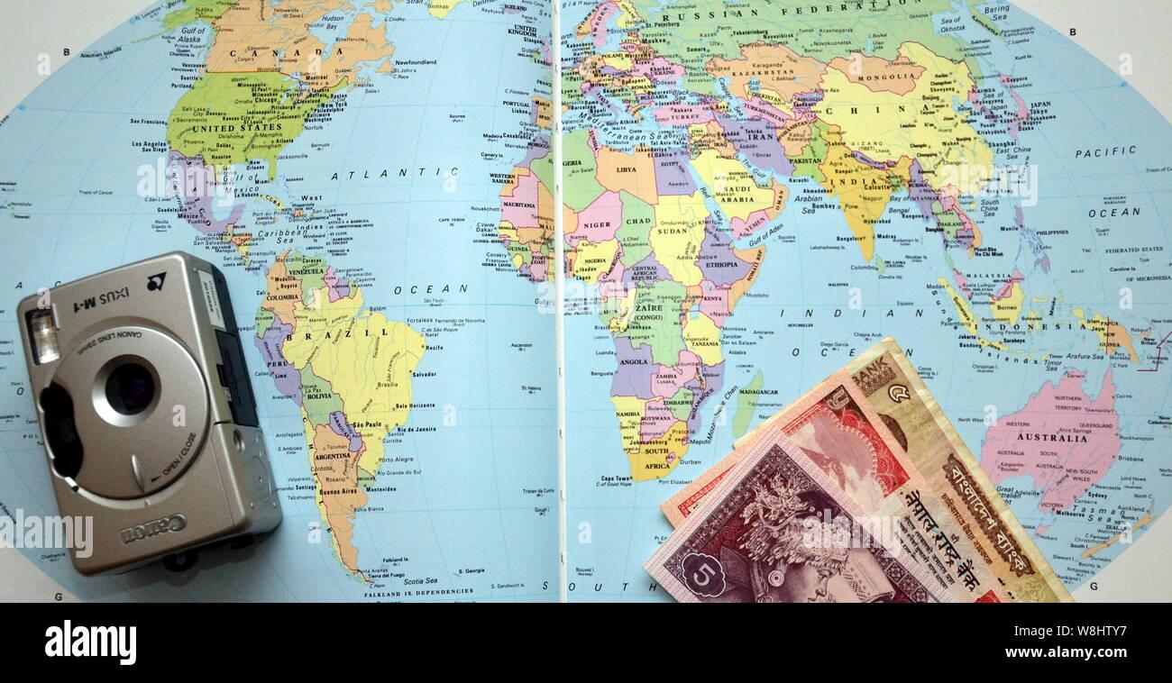 Foe Karte Der Kontinente Jhw.Atlas Page Stockfotos Atlas Page Bilder Alamy