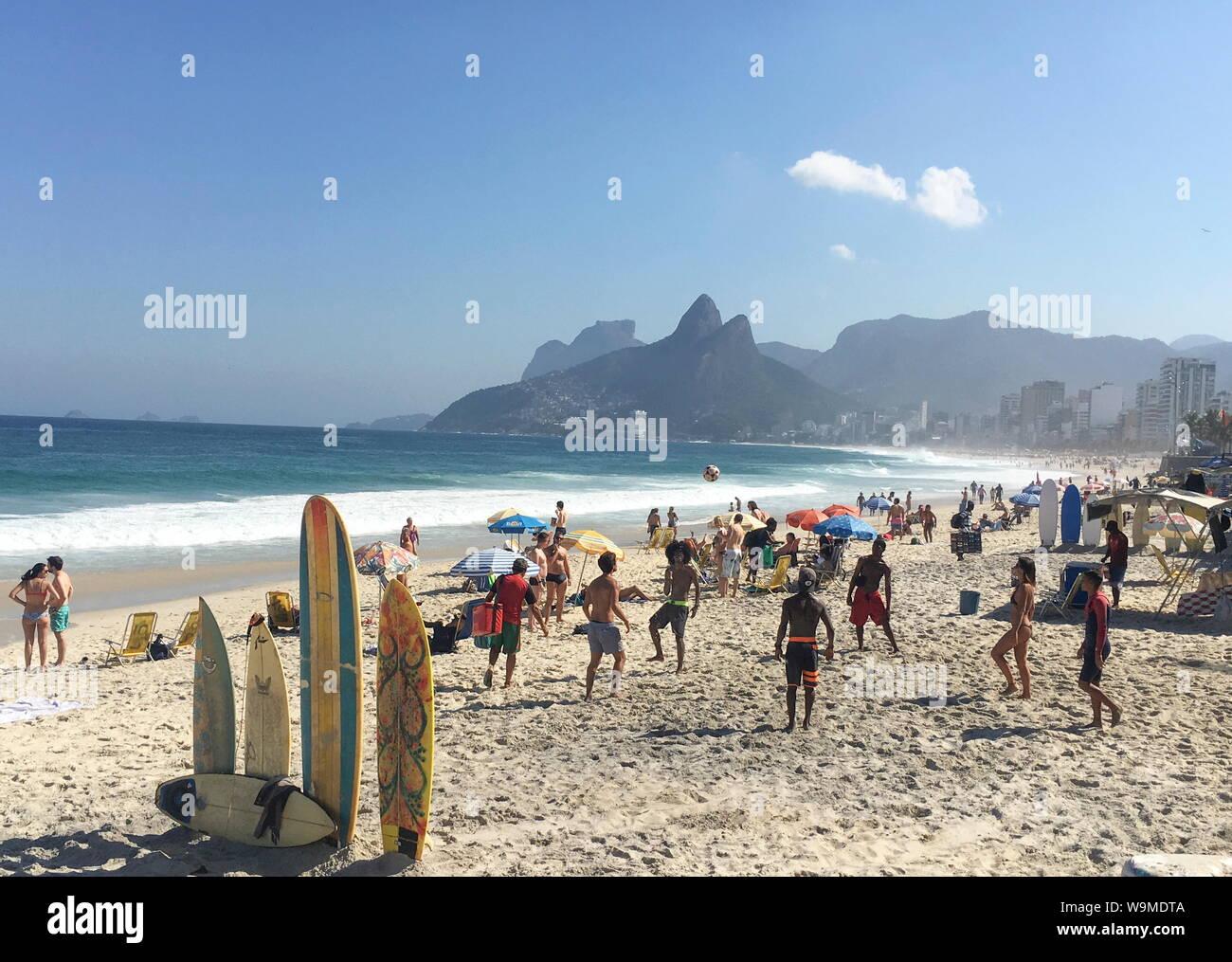 Strand IN RIO Stockfoto