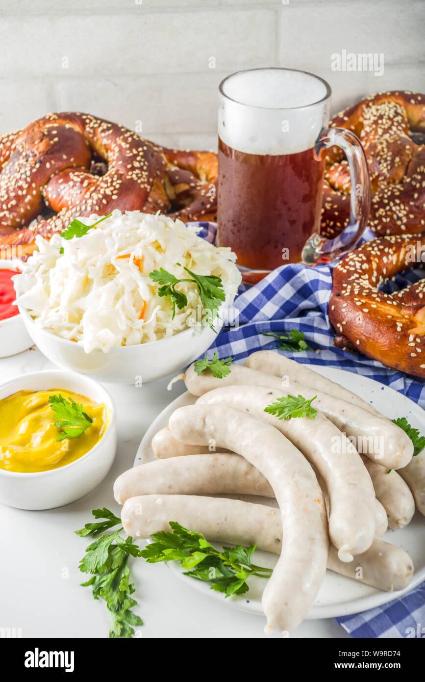 Bayerische Deutsche Traditionen Oktoberfest Essen Und Bier