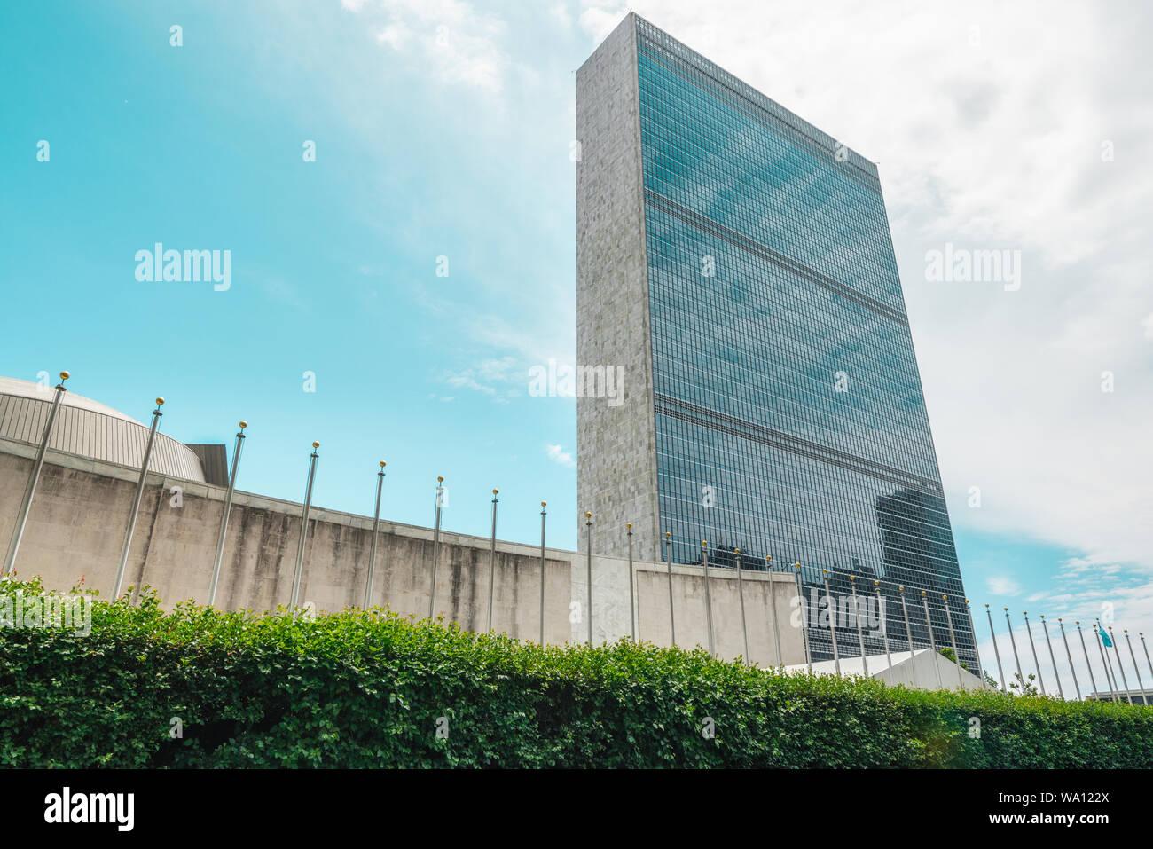 Vereinten Nationen in New York City Stockfoto