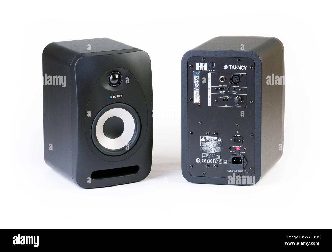 Tannoy offenbaren 502 Studio Monitor Lautsprecher Stockfoto
