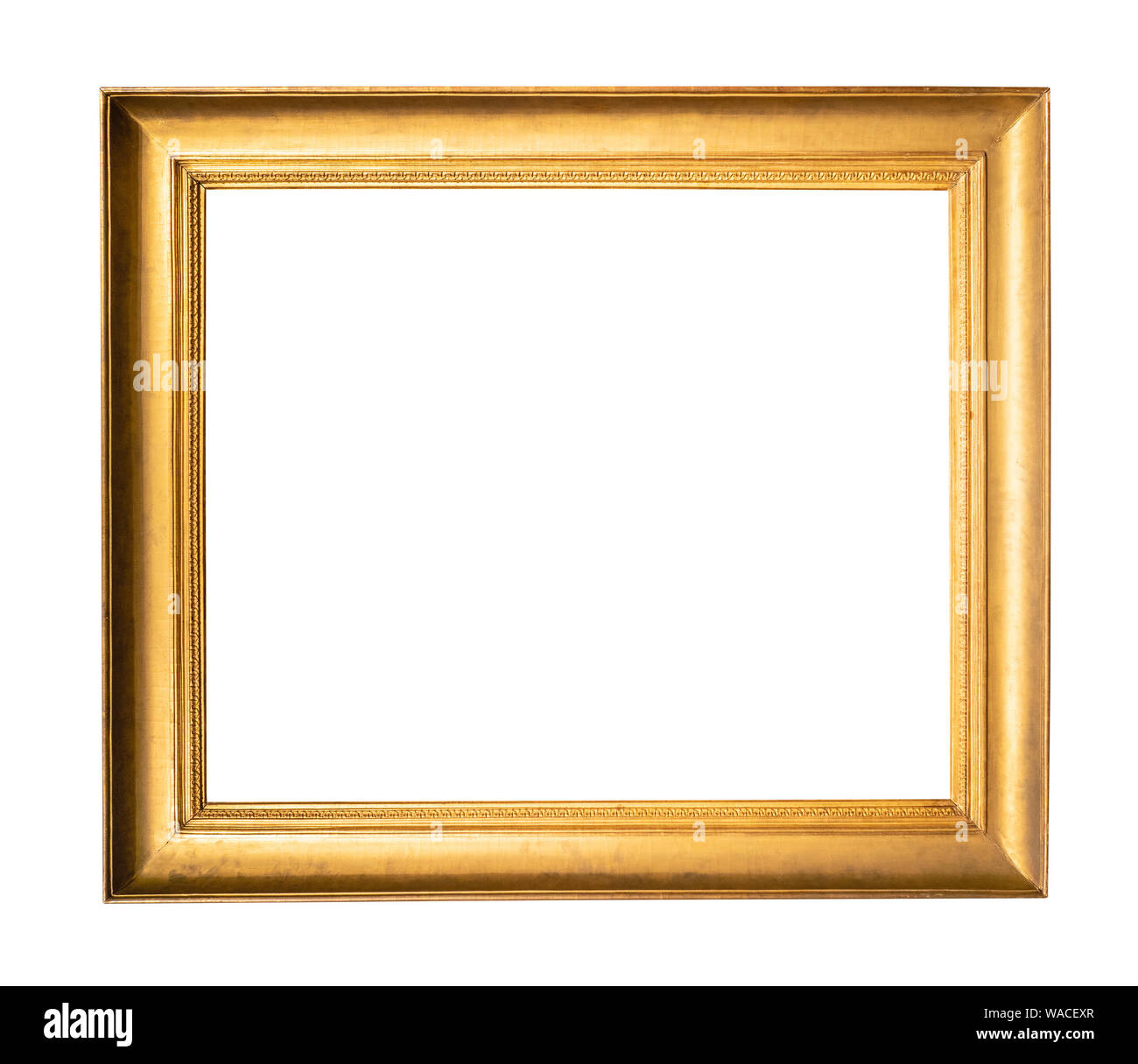 Alte Breite Einfache Holz Bilderrahmen In Gold Farbe Ausschnitt