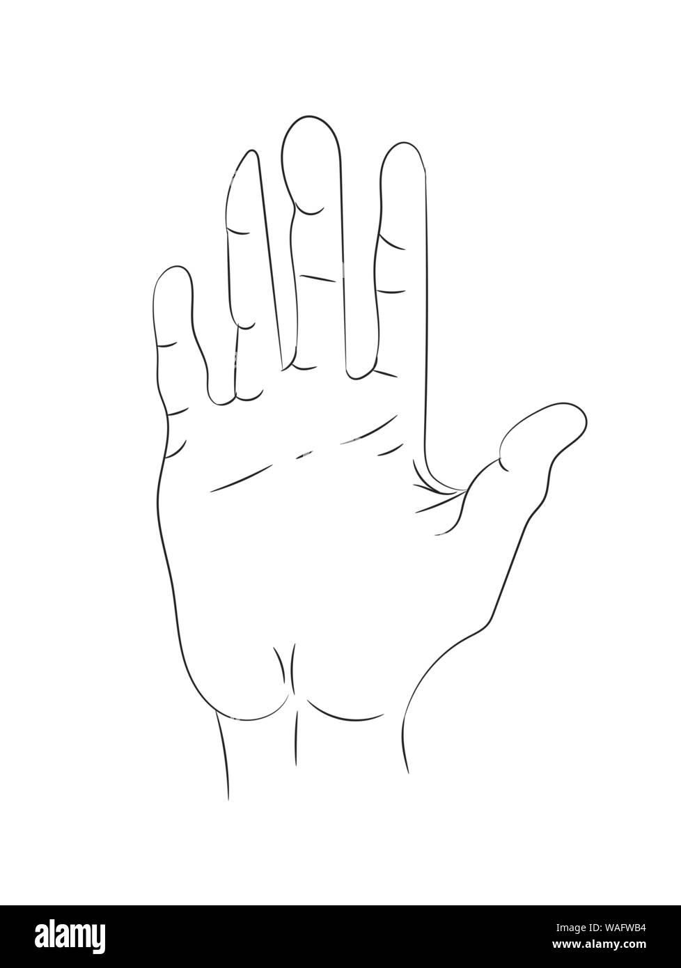 Hand gezogenen Linien auf weißem Hintergrund Stock Vektor