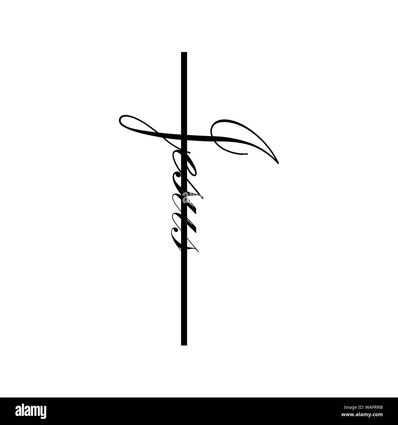 Jesus Hand Vektor Kalligraphie Schrift Text In Der Form