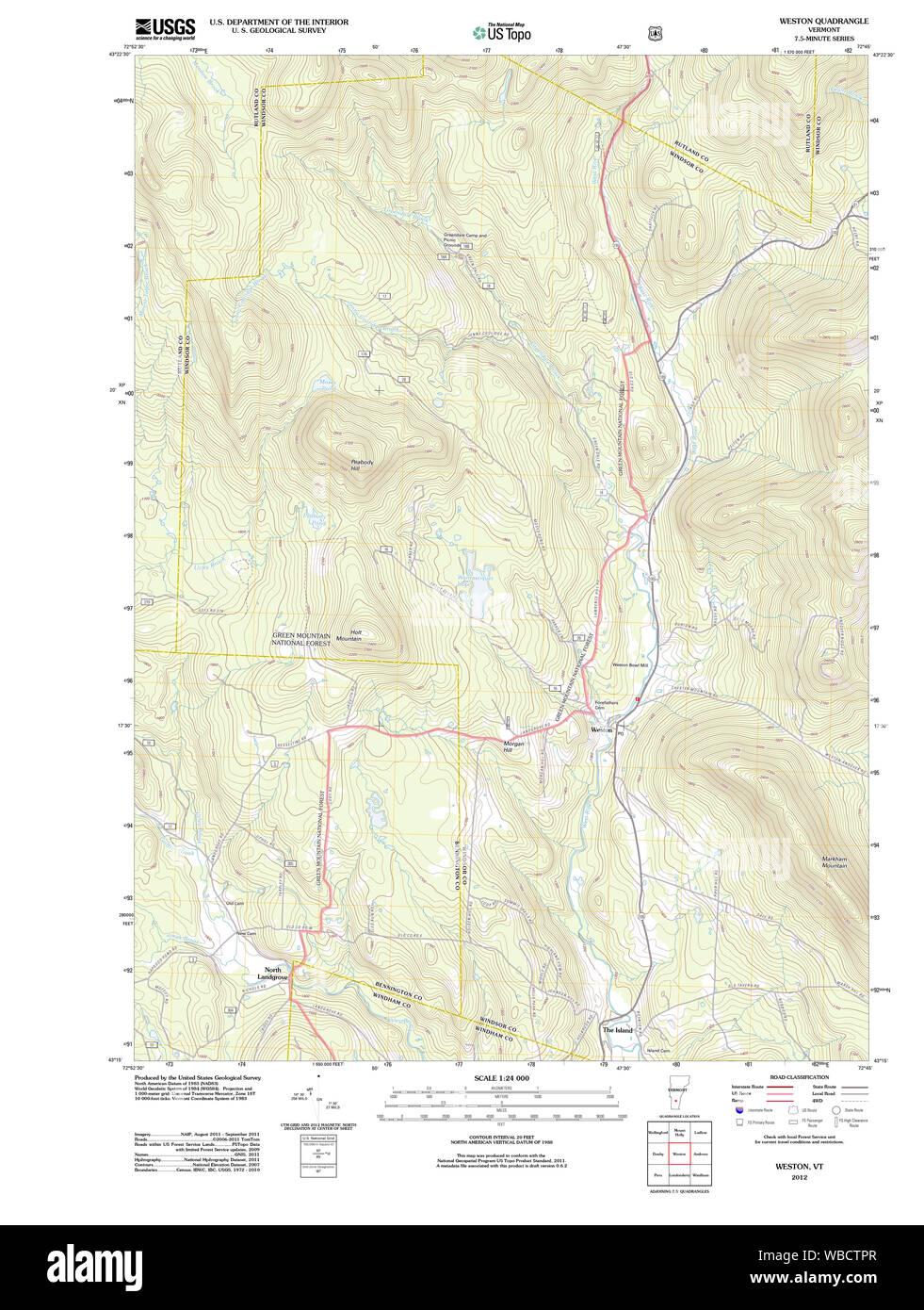 Map Vermont Stockfotos & Map Vermont Bilder - Alamy