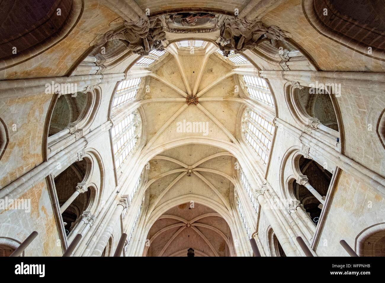 Frankreich, Oise, Senlis, Notre Dame Kathedrale von Senlis, römisch-katholischen gotische Architektur Stockfoto