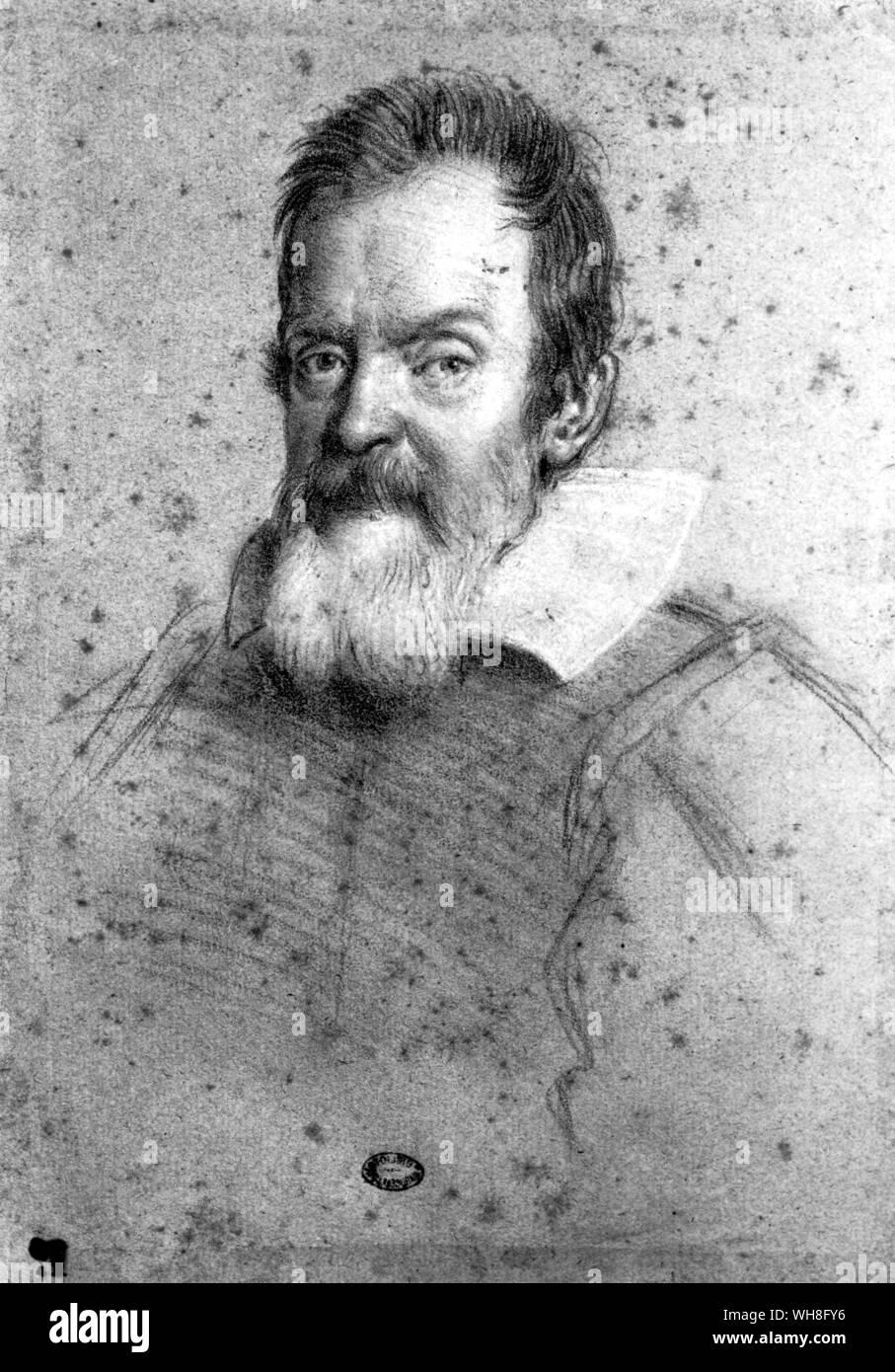 Portrait von Galileo (1564-1642), italienischer Mathematiker, Astronom und Physiker. . . Stockfoto