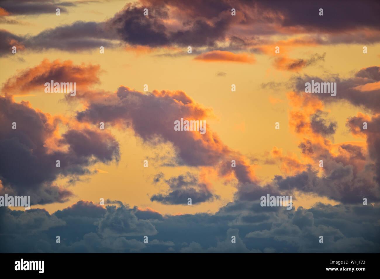 Moody Sonnenuntergang am Portland Bill, Dorset Stockfoto