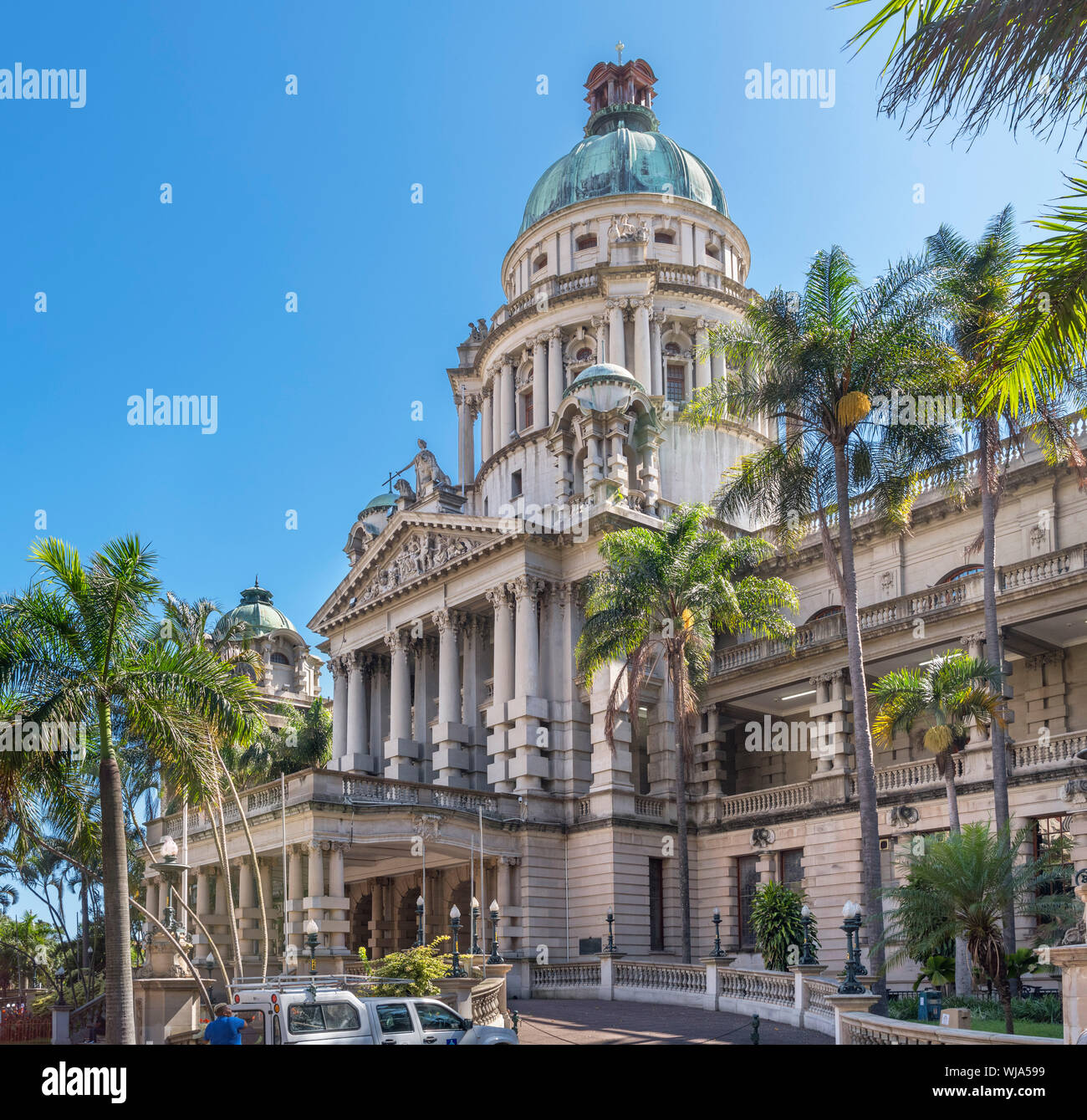 Durban City Hall in Francis Abschied Square, Durban, KwaZulu-Natal, Südafrika Stockfoto