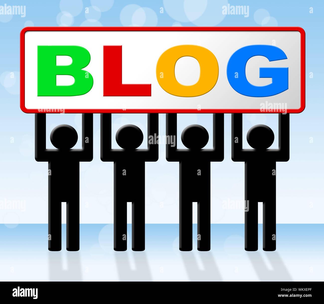 Blog Meaning Web Site Blogging Stockfotos und  bilder Kaufen   Alamy