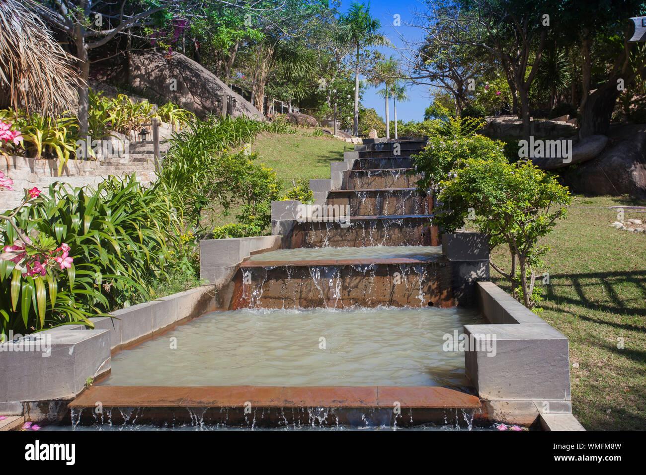 Bungalow Resort Ngoc Suong, in Cam Ranh Bay, South China Sea, Nha Trang, Vietnam, Asien Stockfoto