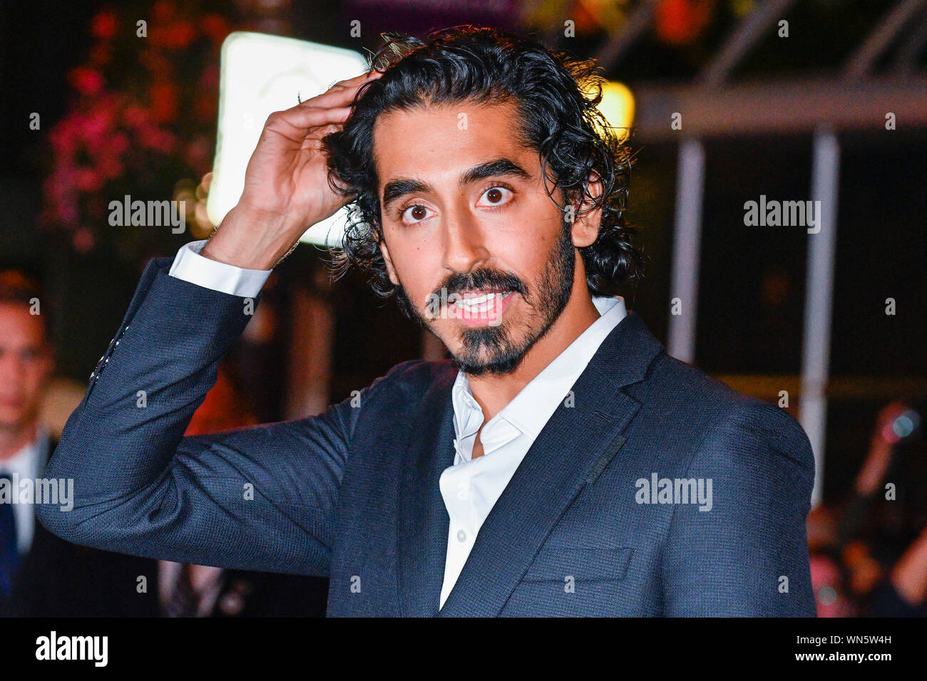 Toronto, Kanada. 05 Sep, 2019. - Englisch Schauspieler Dev Patel kommt für die Premiere der persönlichen Geschichte von David Copperfield im Princes of Wales Theater während der 2019 Toronto International Film Festival. Jamie Simon/JSP/EXimages. Credit: EXImages/Alamy leben Nachrichten Stockfoto