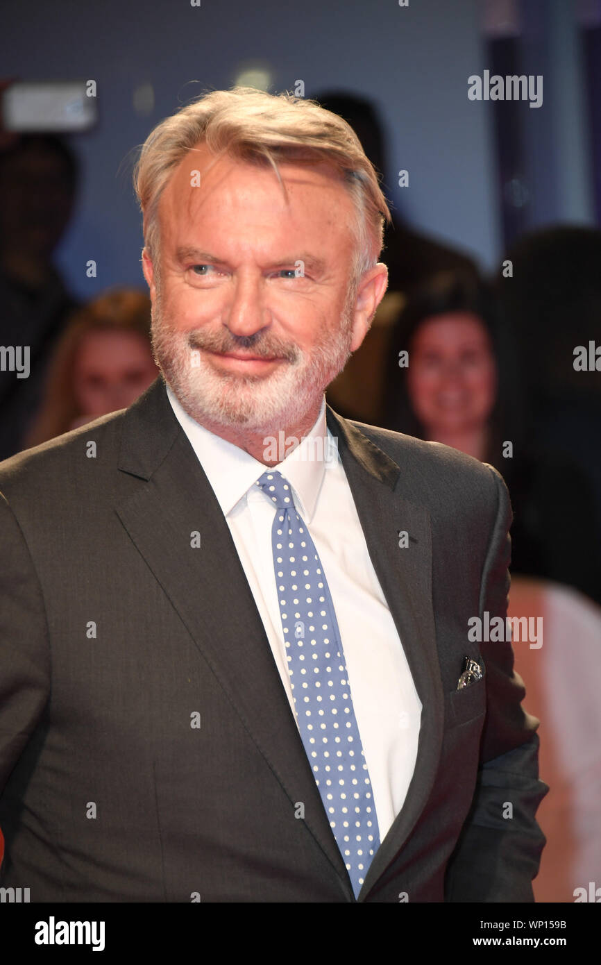 Toronto, Ontario, Kanada. 6. Sep 2019. SAM NEILL besucht 'Blackbird' Premiere während der 2019 Toronto International Film Festival in der Roy Thomson Hall am 6. September 2019 in Toronto, Kanada Quelle: Igor Vidyashev/ZUMA Draht/Alamy leben Nachrichten Stockfoto