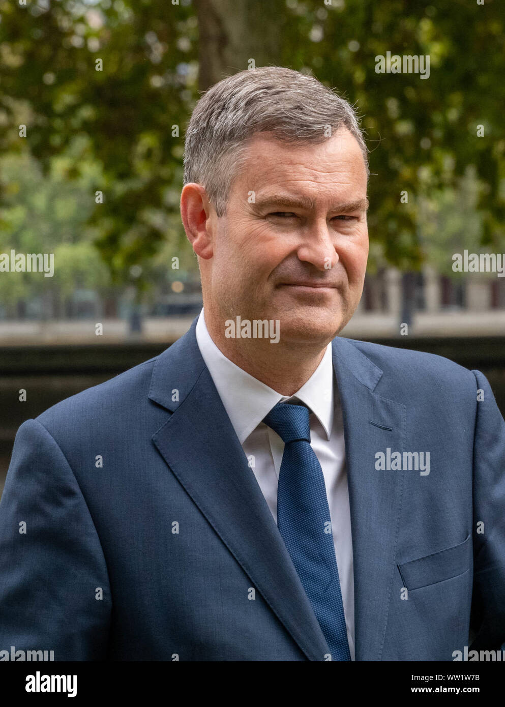 London, Großbritannien. 12 Sep, 2019. David Gauke MP, interviewte in Westminster London UK Credit: Ian Davidson/Alamy leben Nachrichten Stockfoto