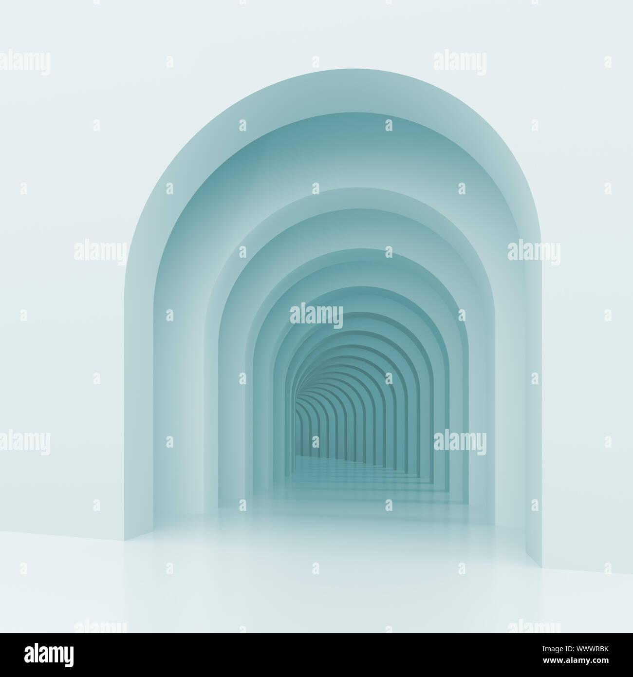 3D-Darstellung der architektonischen Hintergrund mit Bögen Stockfoto