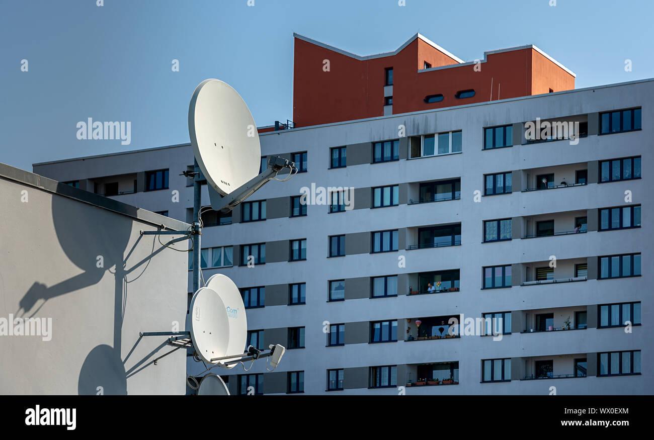 Sozialer Wohnungsbau in Berlin Stockfoto