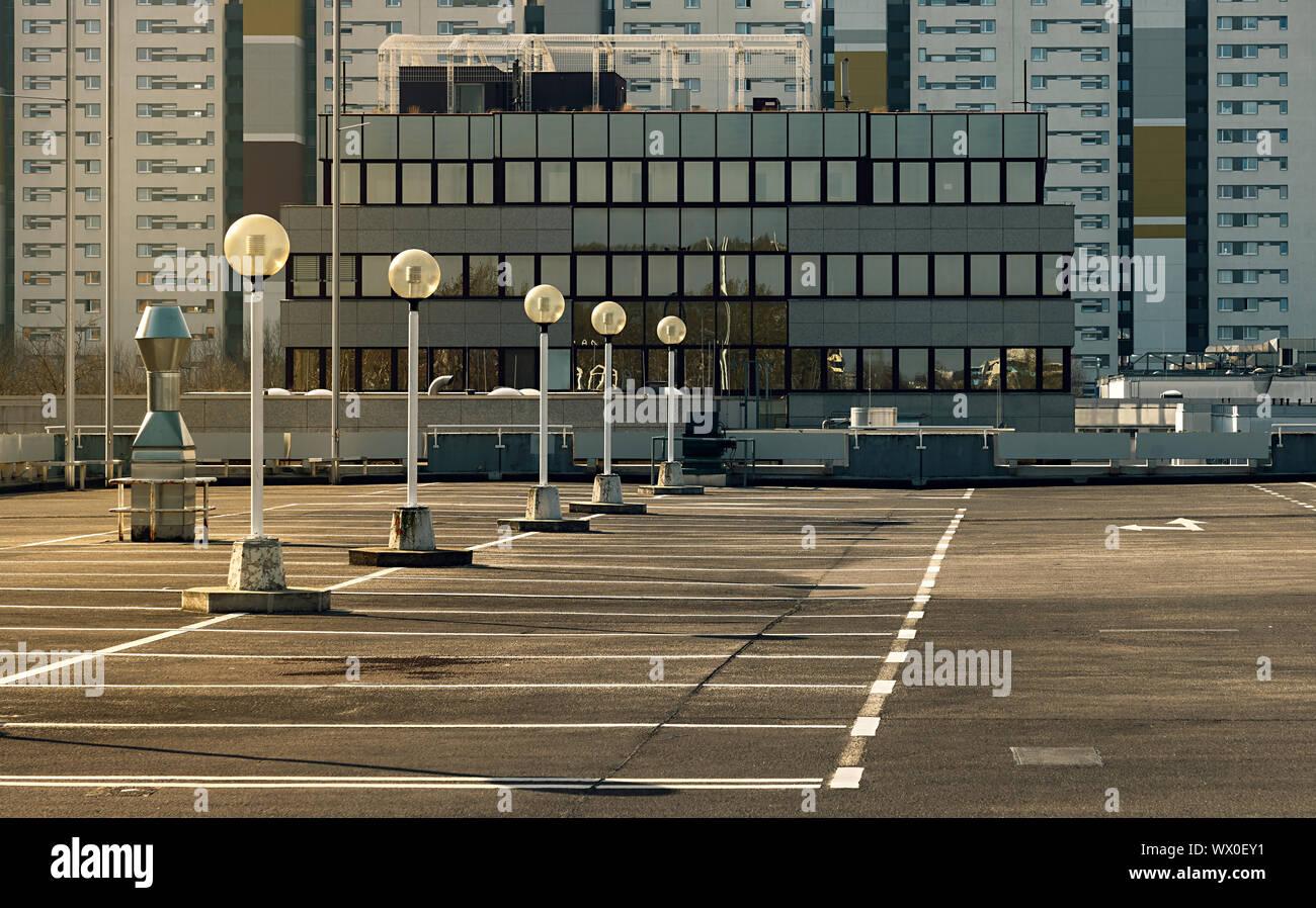 Im Bereich des sozialen Wohnungsbaus in Berlin Stockfoto