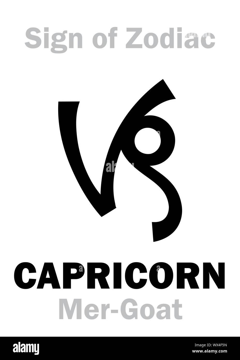 Sternzeichen Sternzeichen CAPRICORNUS die Mer Ziege ...