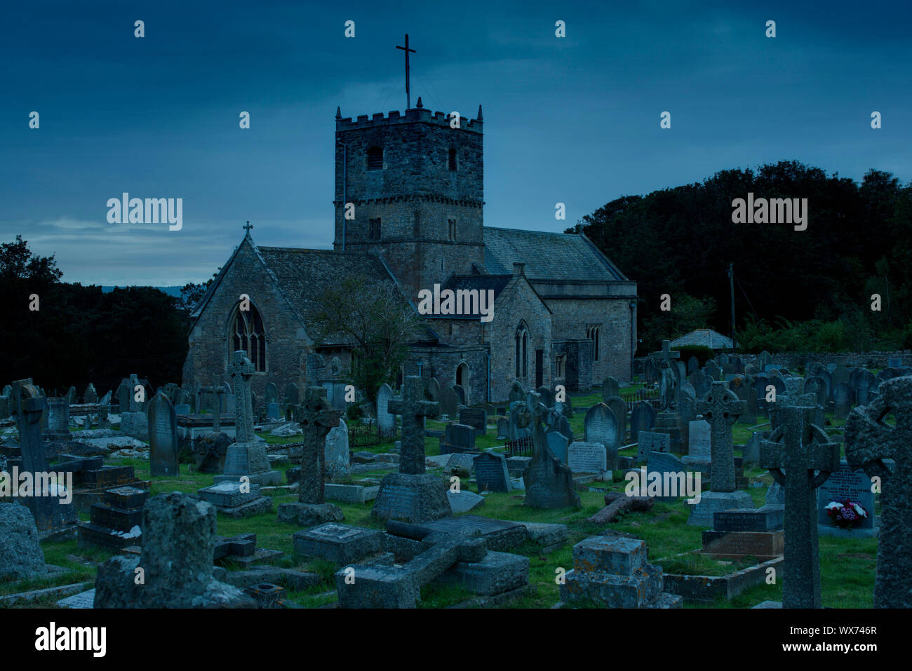 St. Andrew's Church, Clevedon, Somerset Stockfoto
