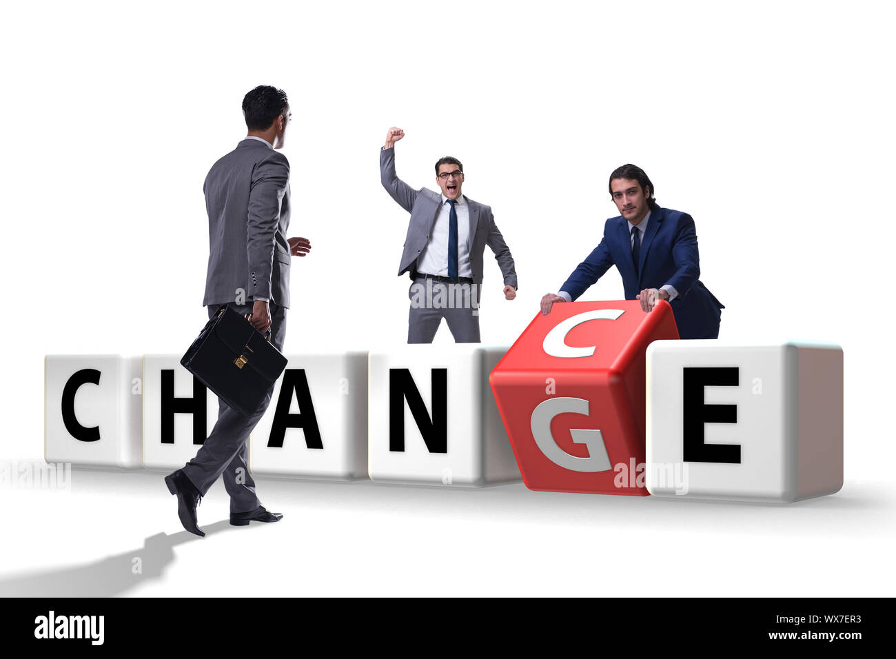 Unternehmer im Wandel und chance Konzept Stockfoto