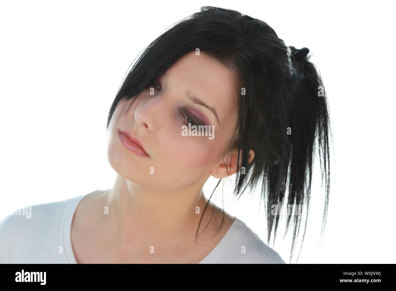 schone emo madchen mit schwarzen haaren