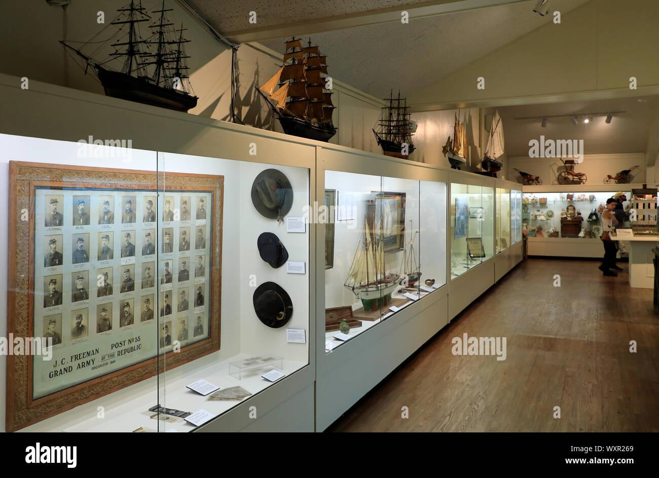Innenansicht von Provincetown Museum innerhalb von Pilgrim Monument & Provincetown Museum Complex.Provincetown. Massachusetts. USA Stockfoto