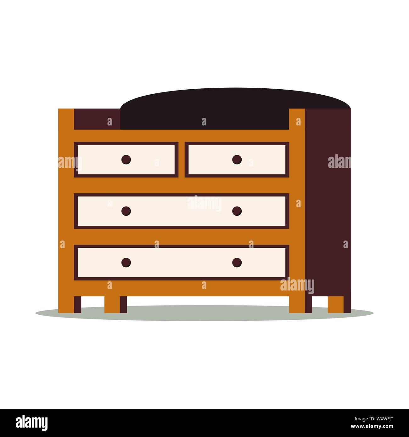 Cartoon Style Flache Design Vector Illustration Von Holz