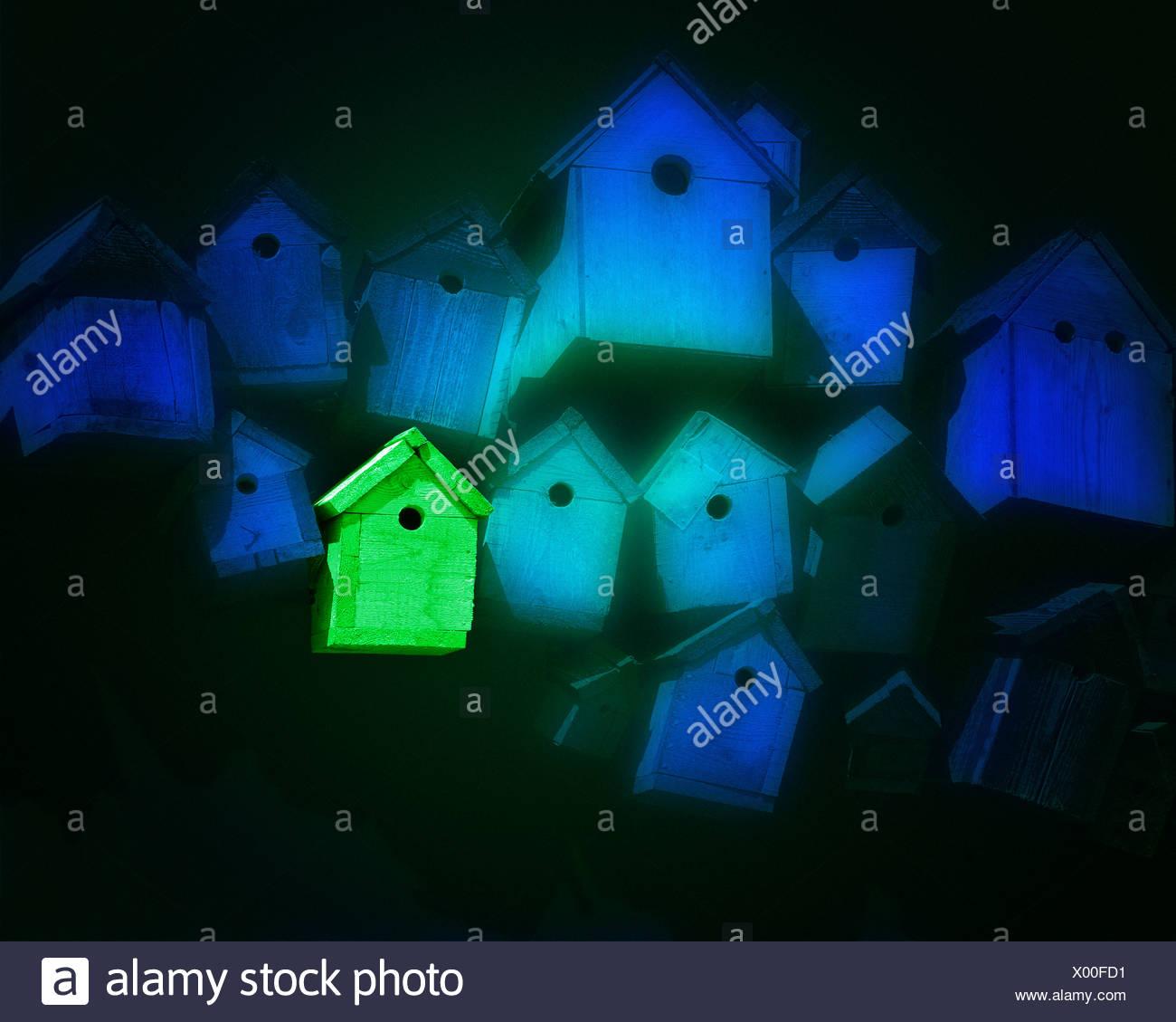 ÖKOLOGISCHEN Konzept: Die Green Home Stockbild