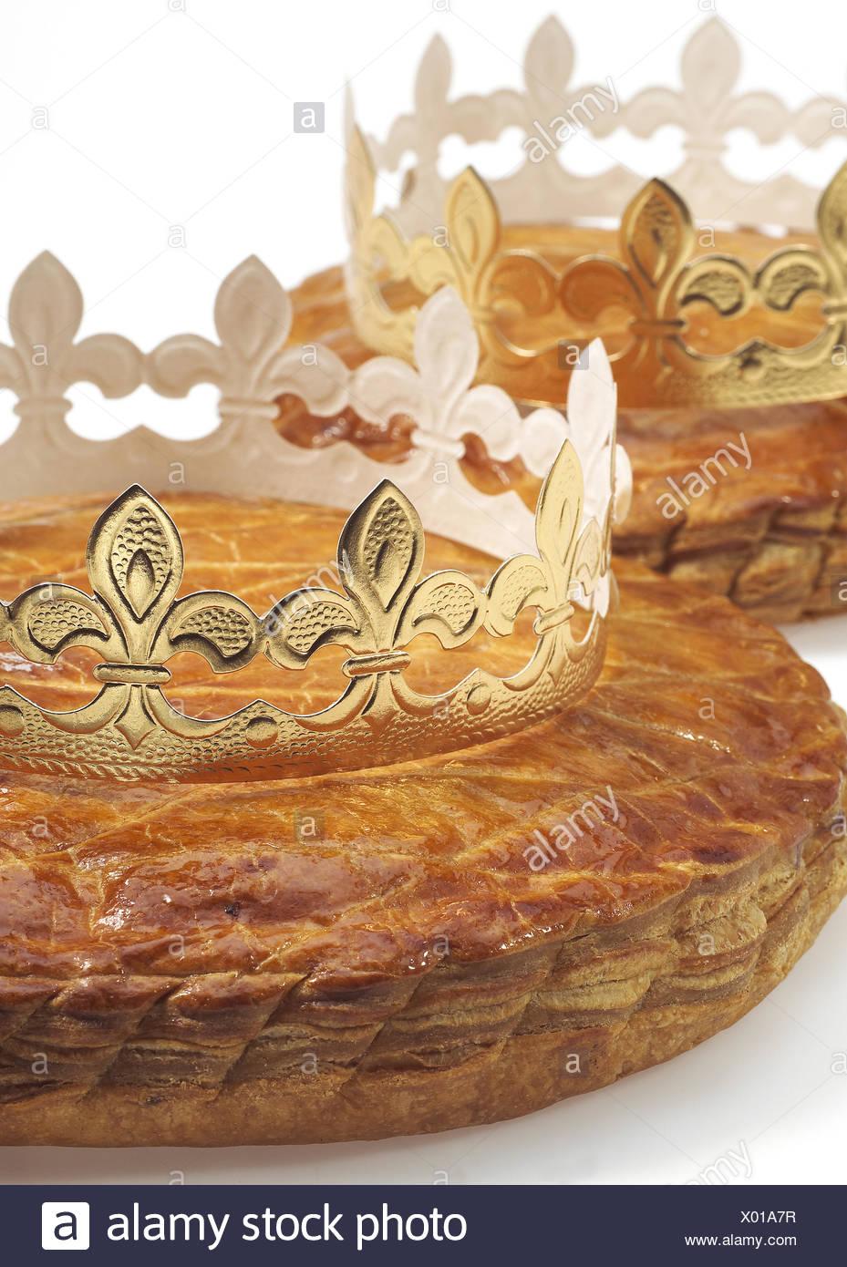 Galette Des Rois Mit Krone Franzosisch Kuchen Feiern Epiphany