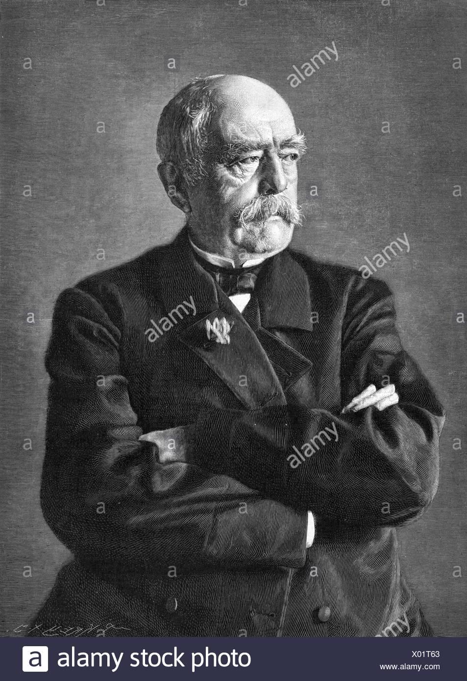 Otto von Bismarck, 1892 Stockbild